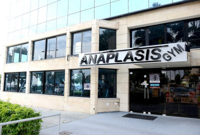 Anaplasis Gym main entrance storefront