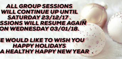 christmas 2017 group classes holidays