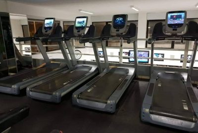 treadmills upstairs