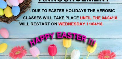 classes easter holidays 2018