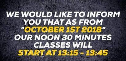 noon classes 2018