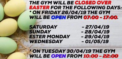 easter holidays gym 2019