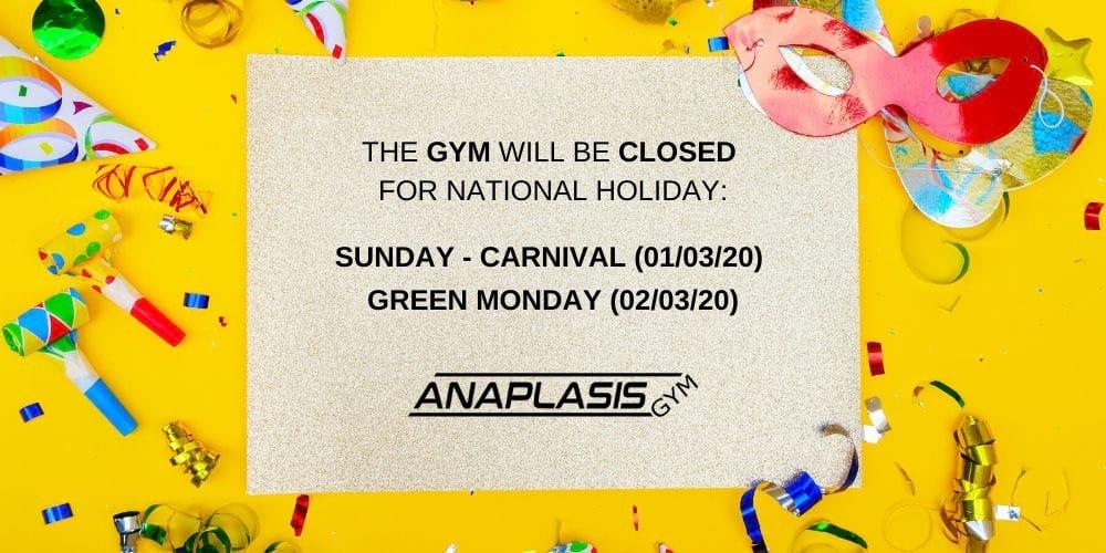 carnival green monday holidays 2020