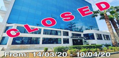 gym closed coronavirus update